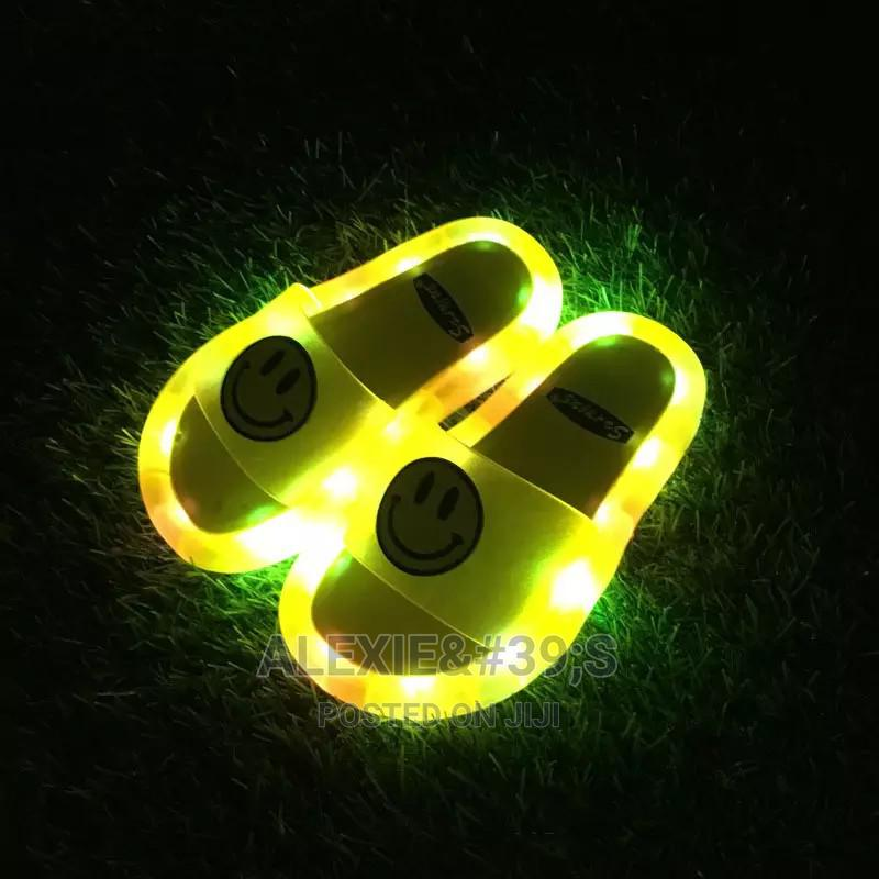 Kiddies Yellow Slippers With Neon Lights