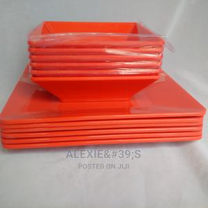 Unbreakable Melamine Flat and Soup Bowls - Red Colour | Kitchen & Dining for sale in Abuja (FCT) State, Kubwa