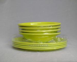 Unbreakable Ceramic Melamine Flat Soup Bowls - Green | Kitchen & Dining for sale in Abuja (FCT) State, Kubwa