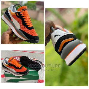 """High Quality PUMA Sytle Rideon """"Gray Orange"""" Sneakers Formen 