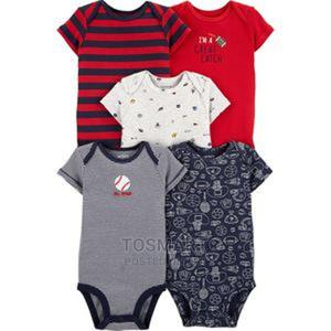 Carter's 5-Pack Sports Original Baby Bodysuits | Children's Clothing for sale in Lagos State, Gbagada