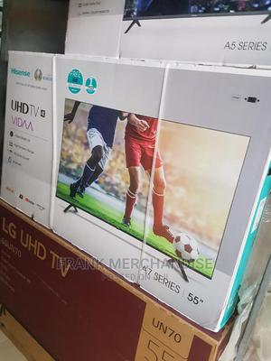 Hisense TV 55inches Smart TV Netflxi Youtube Wi-Fi Bluetooth | TV & DVD Equipment for sale in Lagos State, Ikeja