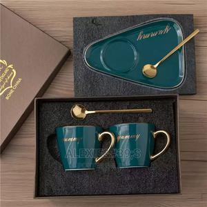 Yummy Luxury Teacup, Saucer and Spoon Set - Emerald | Kitchen & Dining for sale in Abuja (FCT) State, Kubwa