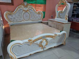 Royal Bed With Two Bed Sides and Wardrobe and Console   Furniture for sale in Lagos State, Maryland