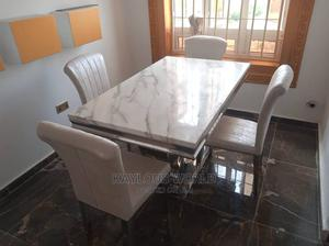 Pure Marble, Dinning Table By 4 Chairs | Furniture for sale in Edo State, Benin City