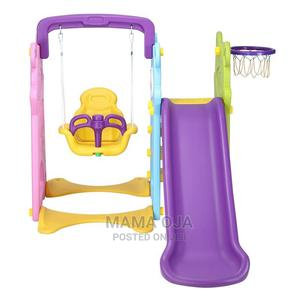 Kids 3 in 1 Playground Equipment (Slide, Swing Basketball)   Toys for sale in Lagos State, Amuwo-Odofin