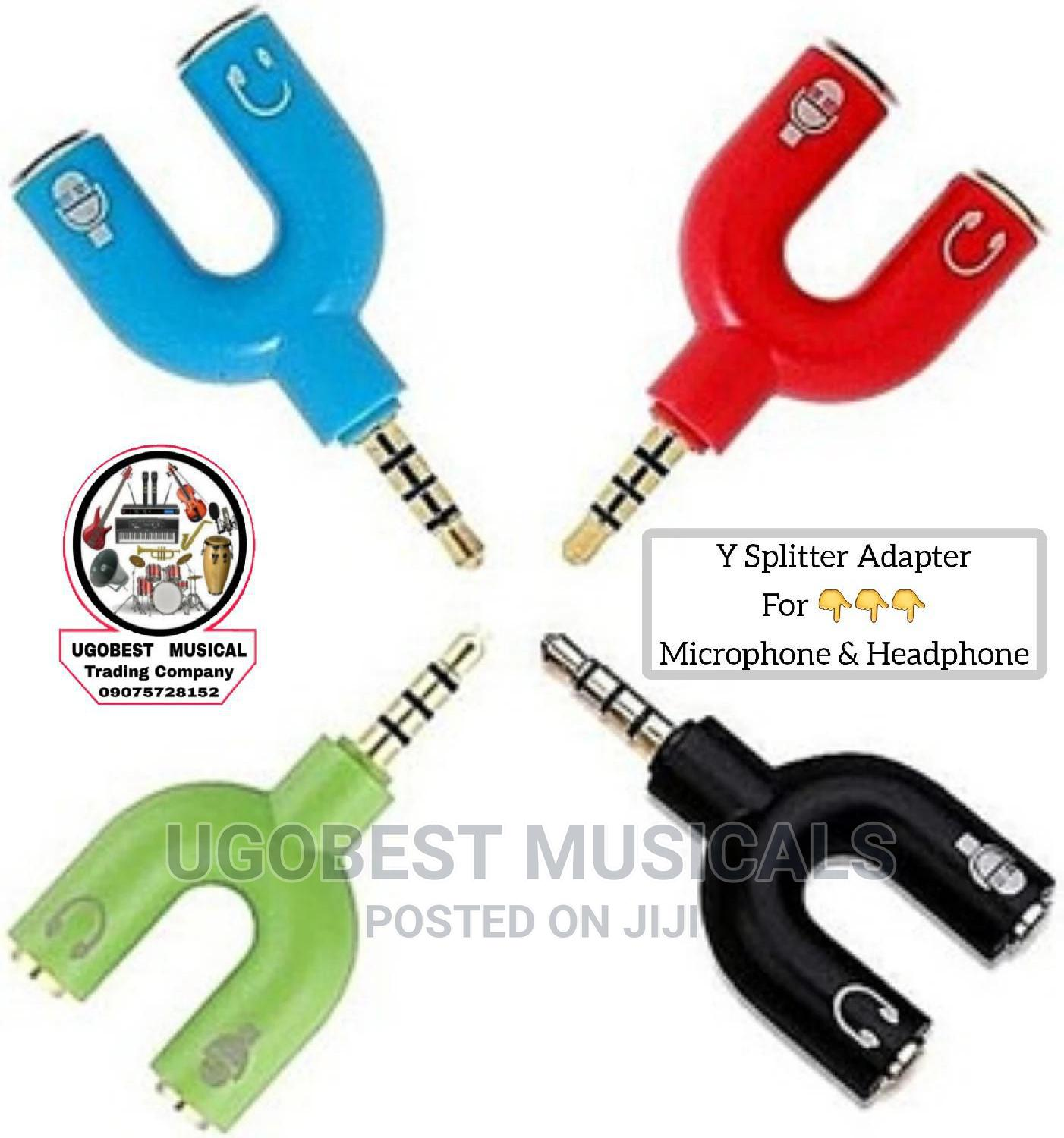 Y Splitter Audio Adapter For Mic Recordings And Headphone