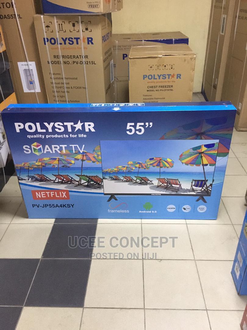 """Polystar 55"""" Smart 4K Uhd Television"""