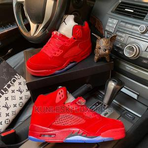 Original Air Jordan 5 Retro Red Suede Sneakers Available   Shoes for sale in Lagos State, Surulere