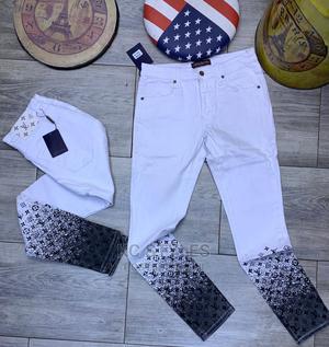 Louis Vuitton Jeans White   Clothing for sale in Lagos State, Lagos Island (Eko)
