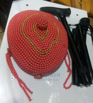 Benin Men's Beaded Cap and Foldable Walking Stick   Clothing Accessories for sale in Lagos State, Ojodu