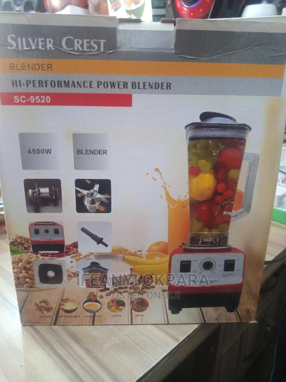 Silver Crest Blender 4500 Watts | Kitchen Appliances for sale in Lagos Island (Eko), Lagos State, Nigeria