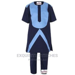 Children Native Cloth - 2pcs Boys Navy Blue Native With Skye | Children's Clothing for sale in Lagos State, Ojodu