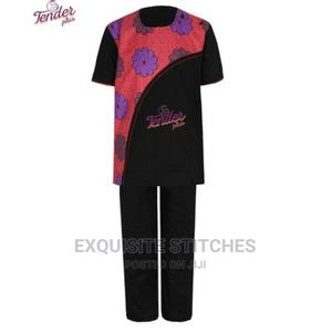 2pcs Boys Black Native With Ankara | Children's Clothing for sale in Lagos State, Ojodu