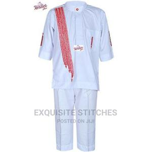 2pcs White Short Sleeve Boys Native With Red Waterfall Side | Children's Clothing for sale in Lagos State, Ojodu