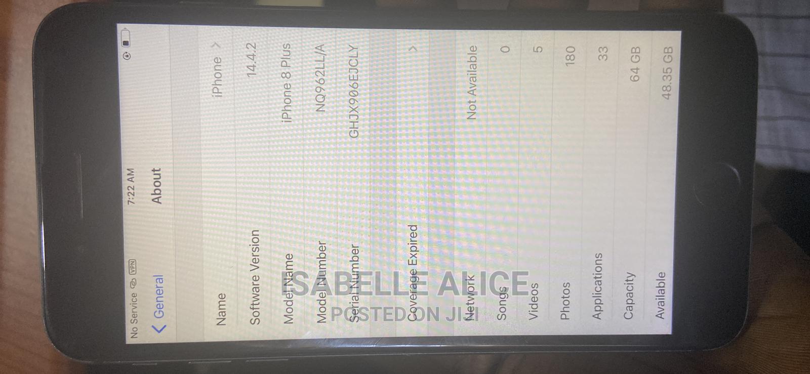 Apple iPhone 8 Plus 64 GB Black   Mobile Phones for sale in Ibadan, Oyo State, Nigeria