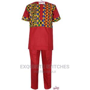 2pcs Boys Red Native With Kente Detail | Children's Clothing for sale in Lagos State, Ojodu