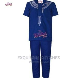 2pcs Boys Native- Royal Blue With White Embroidery   Children's Clothing for sale in Lagos State, Ogudu
