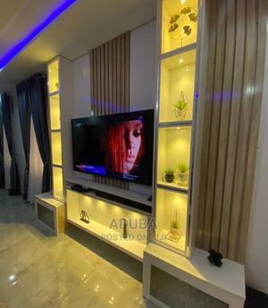 Modern Television Stand With Lights and Shelves | Furniture for sale in Lagos State, Ikeja