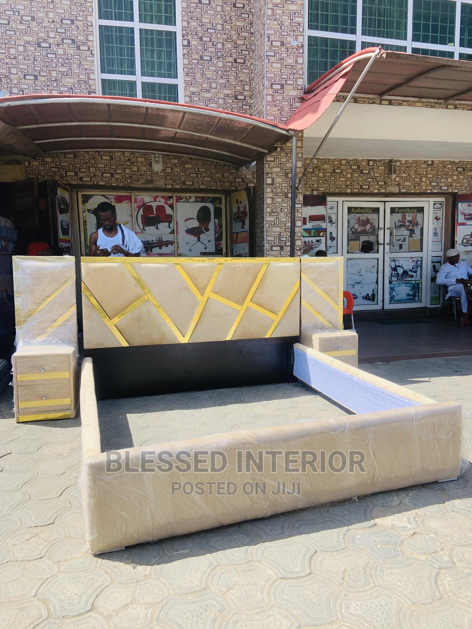 6by6 Royal Padding Bedframe | Furniture for sale in Ikeja, Lagos State, Nigeria