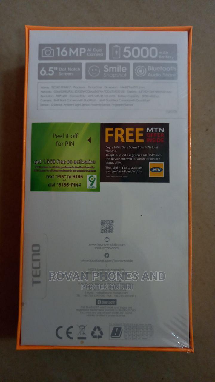 New Tecno Spark 7P 64 GB Blue | Mobile Phones for sale in Ikeja, Lagos State, Nigeria