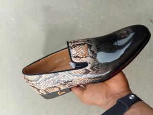 FOLLETEL Stripped Black and Brown Italian Loafers Men | Shoes for sale in Lagos State, Amuwo-Odofin