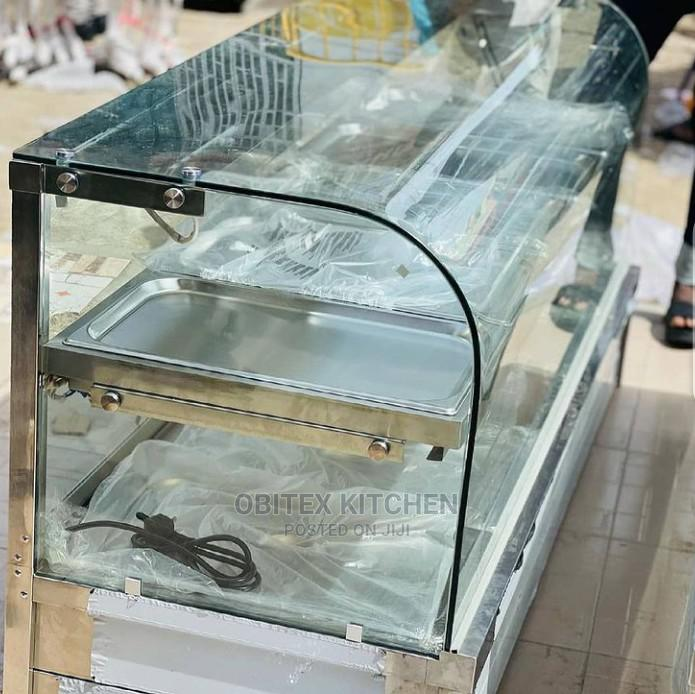 Archive: 5 Plate Curved Glass Food Display Warmer