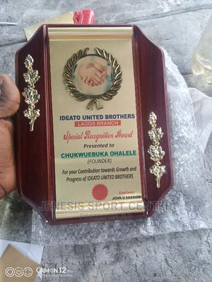 Wooden Plaque Award 0003 With Printing   Arts & Crafts for sale in Lagos State, Ikeja