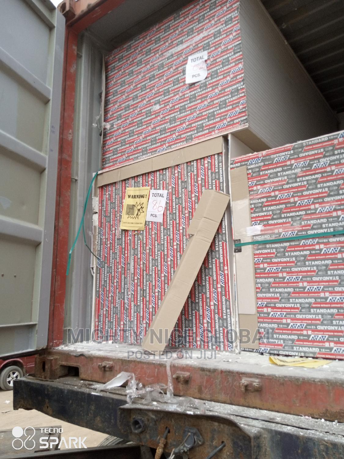 2.4m/12mm Gypsum Board | Building & Trades Services for sale in Yaba, Lagos State, Nigeria