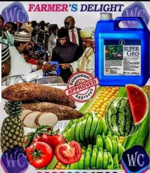 Organic Super Gro Fertilizer 5litres*2   Feeds, Supplements & Seeds for sale in Lagos State, Ikeja