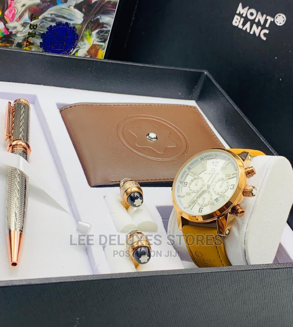 Archive: Mont Blanc Male Set, With Watch, Wallet , Pen Cufflinks