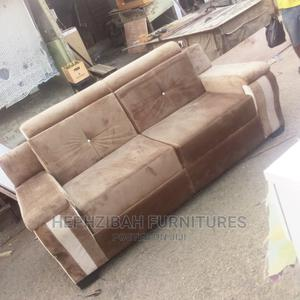 7 Seats Brown Fabric Velvet Chairs | Furniture for sale in Lagos State, Surulere