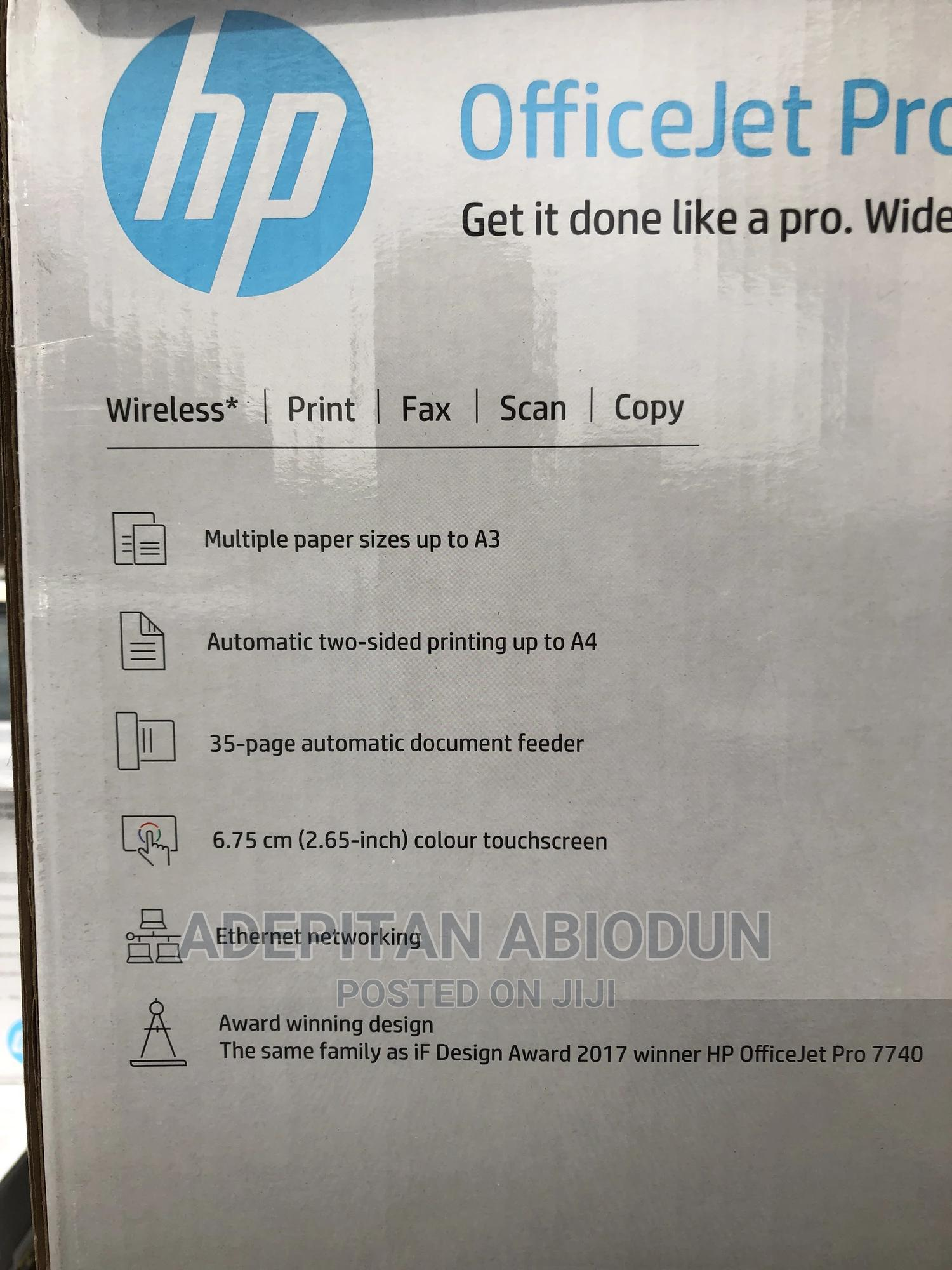 Archive: HP Officejet Pro 7720 Wide Format All-In-One Printer