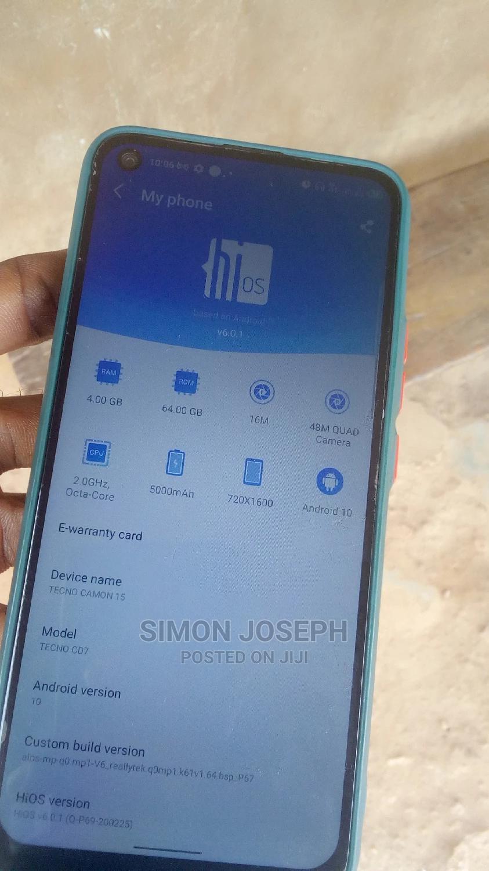Tecno Camon 15 64 GB Blue | Mobile Phones for sale in Ikorodu, Lagos State, Nigeria