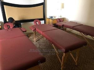 Foldable Portable Massage Bed With Head Lift | Salon Equipment for sale in Lagos State, Lekki
