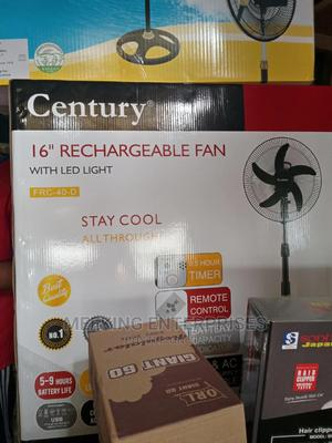 """Century 16"""" Rechargeable Fan With Led Light 