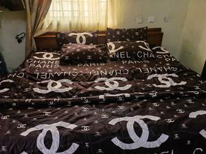 Channel Inspired Brown Duvet, Bedsheet and 4 Pillow Covers   Home Accessories for sale in Abuja (FCT) State, Kubwa