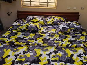 Camouflage Inspired Yellow/Grey Bedding Set 4 Pillows   Home Accessories for sale in Abuja (FCT) State, Kubwa