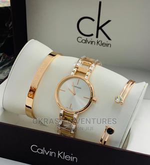 Calvin Klein (CK) Rose Gold Set Chain Watch for Women's | Watches for sale in Lagos State, Lagos Island (Eko)