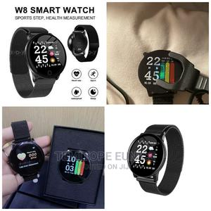 W8 Smartwatch Heart Rate Monitor Fitness Tracker | Smart Watches & Trackers for sale in Lagos State, Ojodu