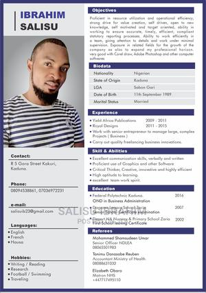 Graphics Designer | Computing & IT CVs for sale in Kaduna State, Kaduna / Kaduna State