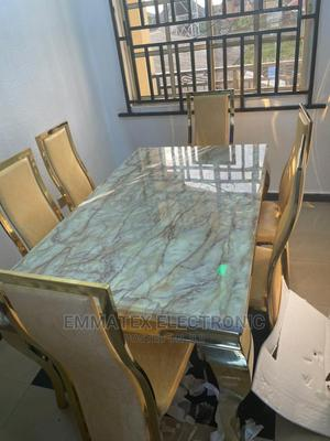 Marble Dinning Table Gold Colour   Furniture for sale in Lagos State, Maryland