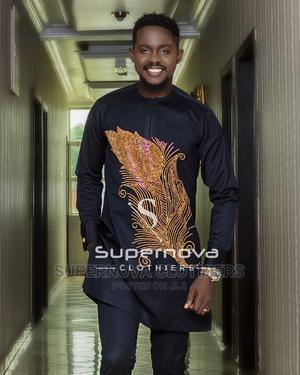 Dark Navy Blue Studded Kaftan   Clothing for sale in Lagos State, Ikeja