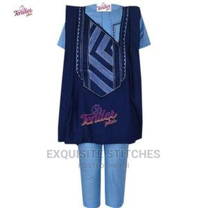 3pcs Agbada -Navy Blue/Sky Blue Combo and Embroidery   Children's Clothing for sale in Lagos State, Ojodu