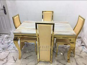 Gold Marble Dinning Table   Furniture for sale in Lagos State, Amuwo-Odofin