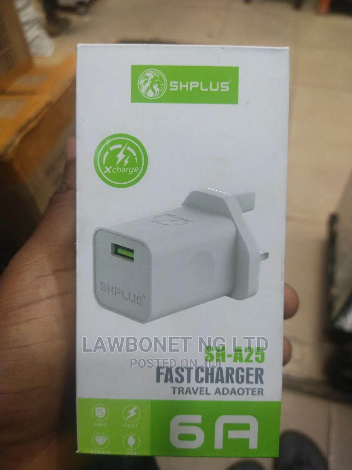 Shplus USB Fast Charger Adapter | Accessories for Mobile Phones & Tablets for sale in Ikeja, Lagos State, Nigeria