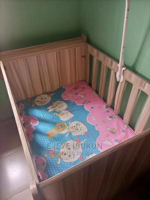 Extremely Neat Baby Cot With Mattress.   Children's Furniture for sale in Lagos State, Ojodu