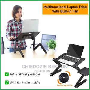 T8 Adjustable Laptop Table With Mouse Pad and Cooler Fan | Computer Accessories  for sale in Lagos State, Shomolu