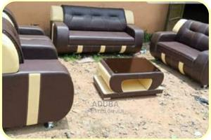 7 Seater Brown Sofa With Center Table | Furniture for sale in Lagos State, Ikeja