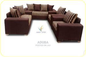 7 Seater Brown Fabric Sofa | Furniture for sale in Lagos State, Ikeja